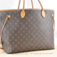 Authentic Louis Vuitton Monogram Neverfull GM Tote Bag M40157 LV 44684