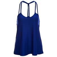 Sexy Pure Color Cotton Blend Strap Tank Top for Women