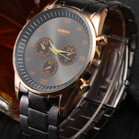 Gift New Arrival Good Price Designer's Awesome Trendy Great Deal Stainless Steel Band Quartz Stylish Dial Watch [4915483396]