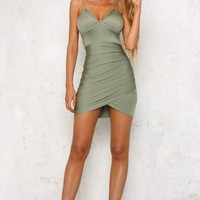 After Dark Dress Khaki
