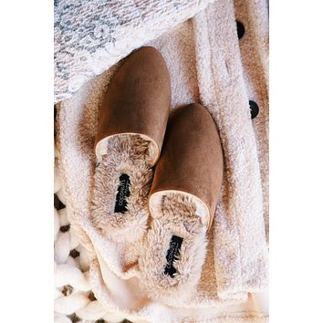 Giselle Faux Fur Slipper, Saddle | Coconuts By Matisse