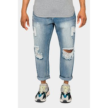 Distressed Cropped Denim Jeans
