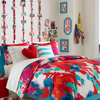 Teen Vogue Bedding, Poppy Art Floral Twin Comforter Set - Bed in a Bag - Bed & Bath - Macy's