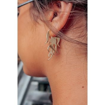 Spark The Flame Earrings: Gold