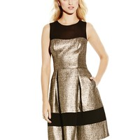 Vince Camuto Metallic Fit and Flare Dress