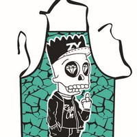 Skeleton Bart Simpson Halloween Cooking Apron