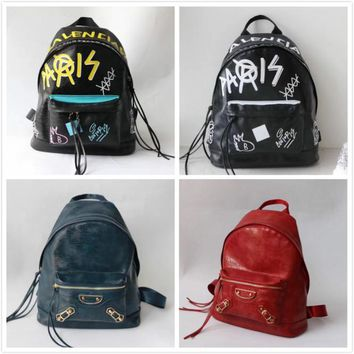 BALENCIAGA MEN'S AND WOMEN'S LEATHER BACKPACK BAG