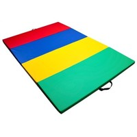 """Black New 4'x8'x2""""Thick Folding Panel Gymnastic Mat Gym Fitness Exercise Mat R4"""