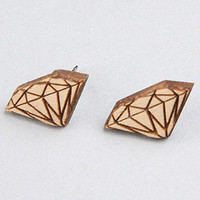 GoodWood The Diamond Stud Earrings in Natural : Karmaloop.com - Global Concrete Culture