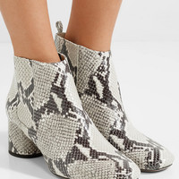 Marc Jacobs - Snake-effect leather ankle boots