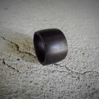 Custom Wide Band Ebony Wood Ring