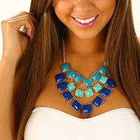 Layers Of Chance Necklace: Blue