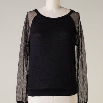 Fresh & Fly Knit Top -- Black