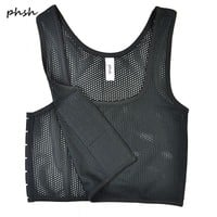 PHSH Lesbian Tomboy Short Mesh Fabrice Breathable Chest Binder 3 Buckles Corset Trans Cosplay Breast Binder Vest for summer