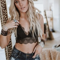 Heartbreaker Lace Bralette - Black