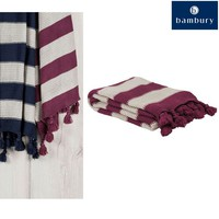 Throw Rug Berry Madison Knotted Tassels 130 x 150 cm by Bambury