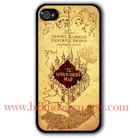 marauder's map iPhone 4 Case, iphone 4s case, harry potter iphone 4 case, harry potter iphone cae