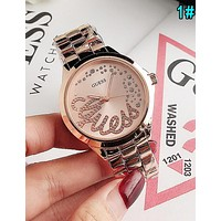 GUESS Stylish Women Men Popular Movement Quartz Watch Wristwatch 1#