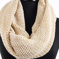 Pampered Infinity Scarf, Beige