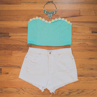 Mint Daisy Top