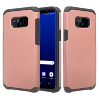 Samsung Galaxy S8 Plus Case, SM-G955 Slim Dual Layered Shock Resistant Hybrid Case Cover - Rose Gold