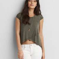 AEO Soft & Sexy Jegging T-Shirt , True Black | American Eagle Outfitters