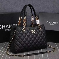 GKJN6 Black Real Leather High Quality Women Hand Bags