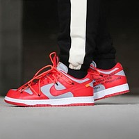 OFF-WHITE x Futura x Nike Dunk Low colorblock low-top sports running shoes