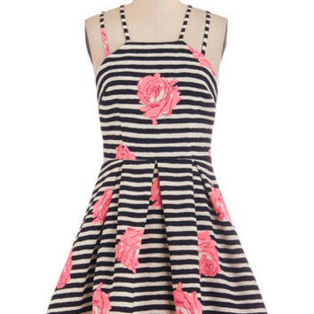 ModCloth Vintage Inspired Mid-length Sleeveless A-line Lively and Well Dress