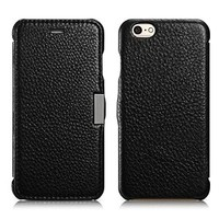 iPhone 6s Case, [Lichee Pattern] iPhone 6s Leather Case with Magnetic Closure, Handcraft Flip Leather Case for iPhone 6s (2015)/ iPhone 6 (2014) (MM507) (Black)