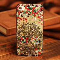 Handmade Crystal Skull Cell Phone Case Cover for iPhone 6 6s 5 5s 6plus 6s plus
