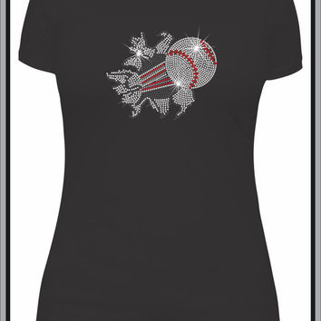 Rhinestone Baseball Custom T-Shirt - Bling Shirt