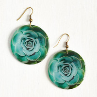 Echeveria From the Norm Earrings by ModCloth