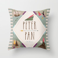 Peter Pan Throw Pillow by Emilydove | Society6