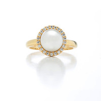 Silver pearl ring,Gold pearl ring,Cz pearl ring,Swarovski pearl ring,Rose gold pearl ring,Clasic pearl ring,Valentines day ring
