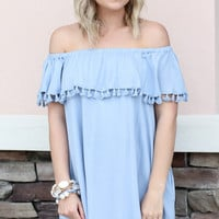 Open Arms Dress - Chambray