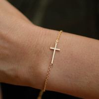 cross bracelet. choose your color, gold and silver. love couple, friendship, mom,sister,wife,bridesmaid gift. no12