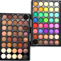 Popfeel 40 Colors Eye Shadow Makeup Shimmer Matte Eyeshadow Earth Color Eyeshadow Palette Cosmetic Makeup Set Nude Eye Shadow