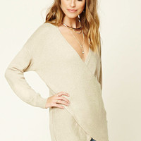 Contemporary Faux Wrap Sweater