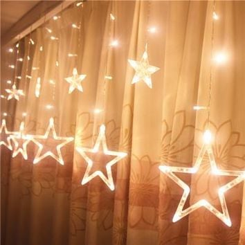 220V Christmas garland led curtain string light window decoration for home new year wedding Pink Purple Blue color 138 bulbs2.5M