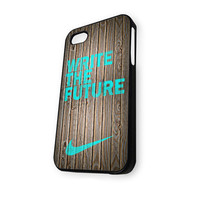 Mint write the future wood colored Wooden iPhone 4/4S Case