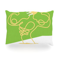 "Thomas Fuchs ""Fortified Food"" Spaghetti Oblong Pillow"