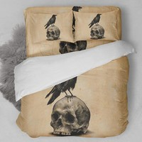 Skull & Raven Bedding Set