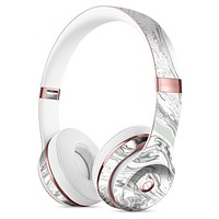 Gray 50 Textured Marble Full-Body Skin Kit for the Beats by Dre Solo 3 Wireless Headphones