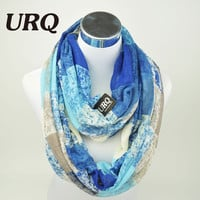 Winter Tube Scarves Warm For Women 2016 New Design plaid lady Ring Scarfs Infinity Scarf muffler V8A18430