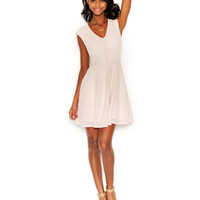 Bar III Perforated Fit & Flare Dress