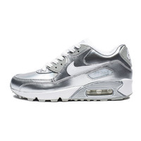 NIKE GRADESCHOOL AIR MAX 90 PREMIUM LEATHER - WHITE/METALLIC SILVER | Undefeated