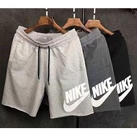 NIKE Hot Sale Couples Letter Print Sports Running Shorts