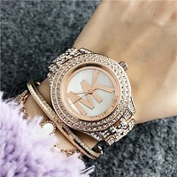 MK Michael Kors 2018 new trend fashion waterproof quartz watch F-Fushida-8899 Rose gold