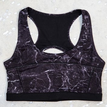 Look Out Sports Bra, Black Stone